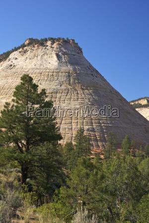 checkerboard mesa formed of navajo sandstone