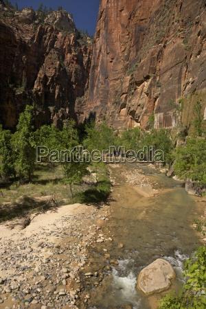 riverside walk in virgin river canyon