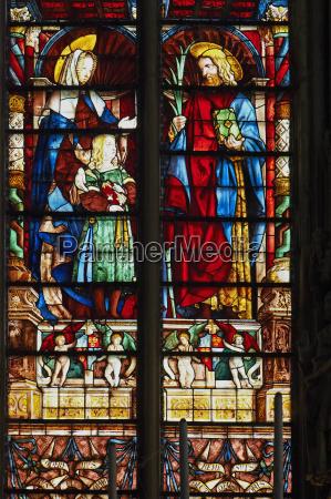stained glass window basilica saint nazaire