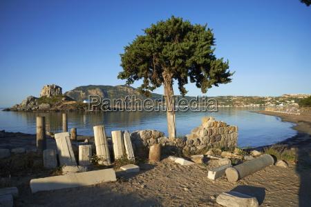 agios stefanos church ruins kefalos bay