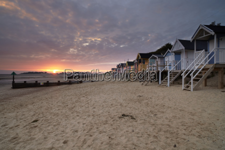 beach beach huts and a summer