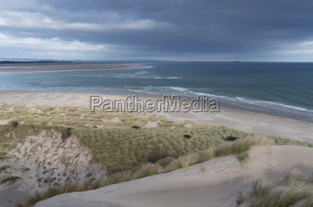 a view of budle bay northumberland
