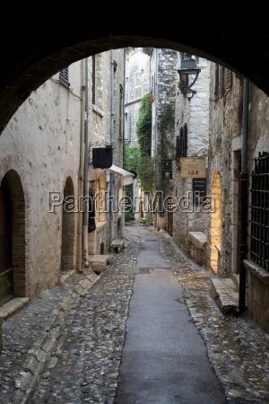 cobbled alleyway saint paul de vence