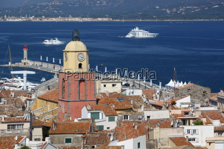 view over old town saint tropez
