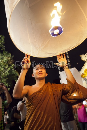 paper lanterns being released at loi