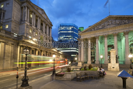 royal exchange and the bank of