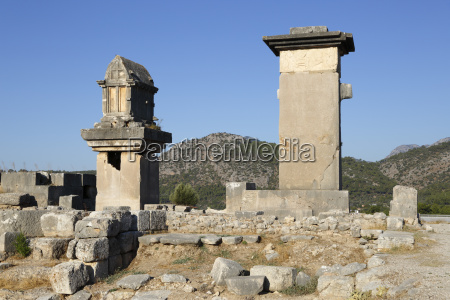 harpy monument and lycian tomb xanthos