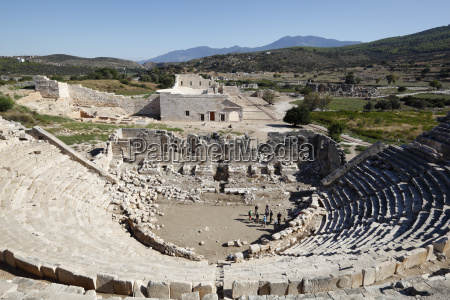 amphitheatre and ruins patara near kalkan