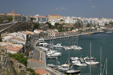 view over port and old town