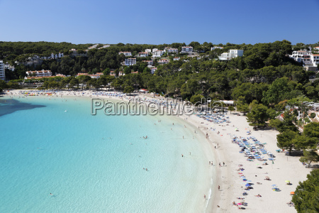 view over white sand beach cala
