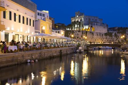 cafe balear and ayuntamiento de ciutadella