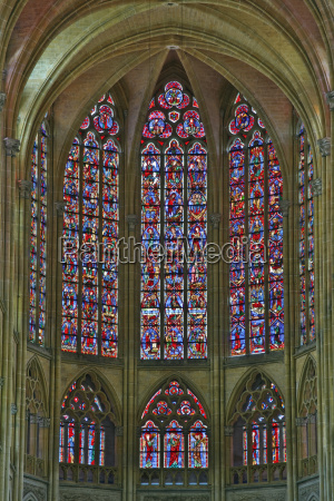the beautiful stained glass windows at