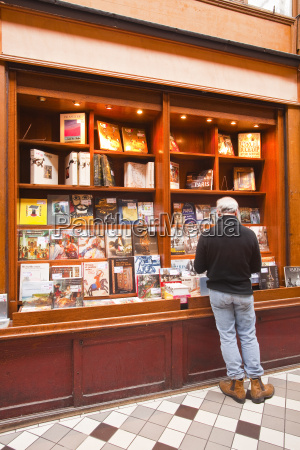a book shop in passage jouffroy