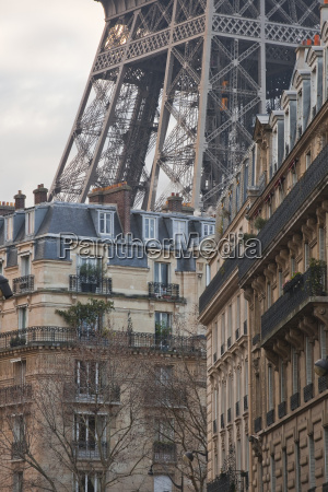 the eiffel tower and typical parisian