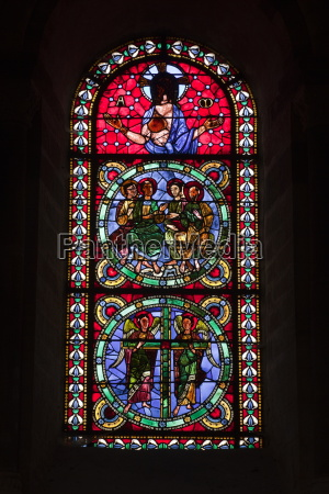 a 12th century stained glass window