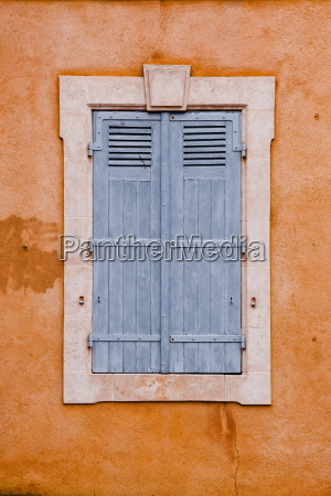 typical french shutters in the old