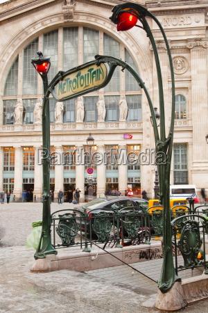 the art nouveau entrance to gare