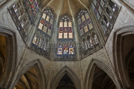 the beautiful stained glass above the