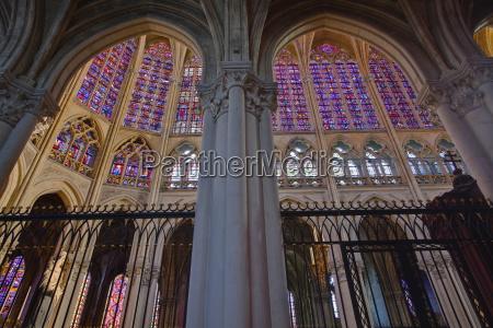 stained glass windows inside saint gatien