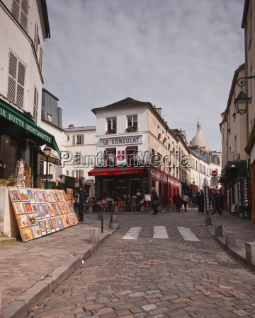 the streets of montmartre paris france