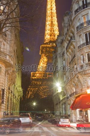 nacht nachtzeit europa abend paris frankreich