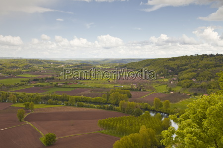 the valley of the dordogne in