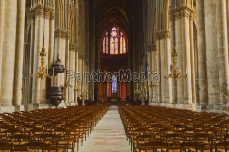 the gothic nave of notre dame