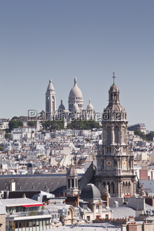 looking over the rooftops of paris