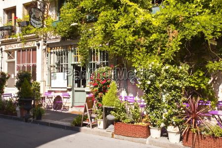 cafe europa horizontal paris frankreich outdoor