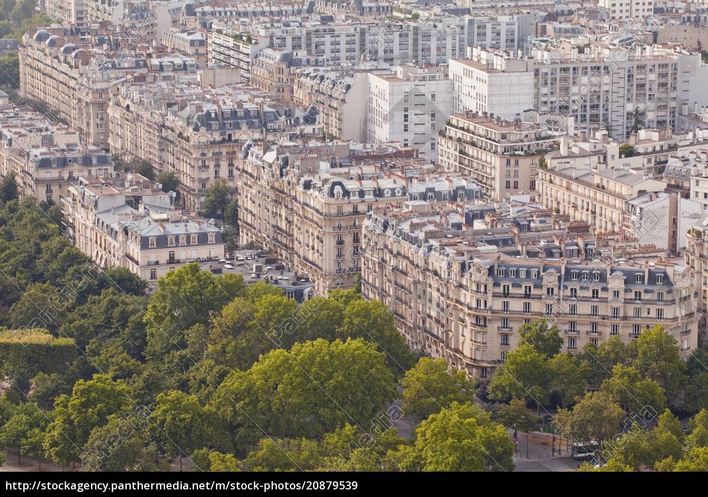 die, dächer, von, paris, vom, eiffelturm, paris, frankreich, europa - 20879539