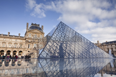 the musee du louvre in central