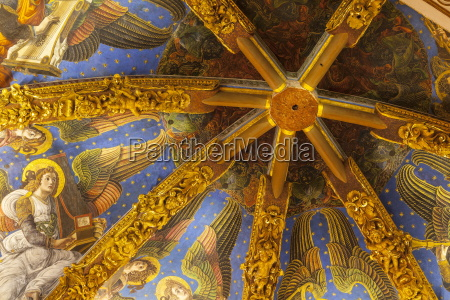 decorated ceiling in the metropolitan cathedral