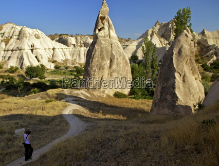 fairy chimneys cavusin cappadocia anatolia turkey