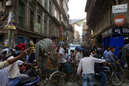 stau strassenszene kathmandu nepal asien