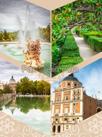 collage von royal palace von aranjuez