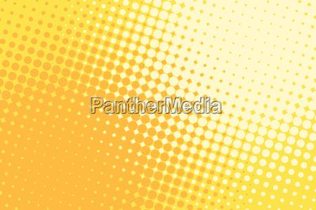 orange yellow halftone pop art retro