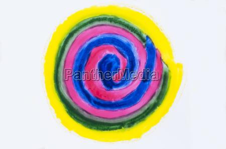 spirale auf weissem hintergrund