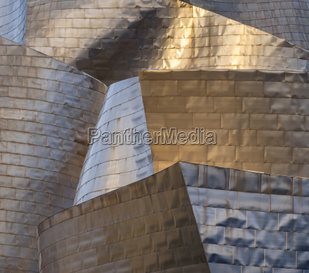 the titanium facade of the guggenheim