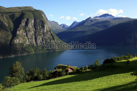 a house above the fjord at
