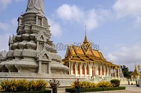 silver pagoda inside the royal palace
