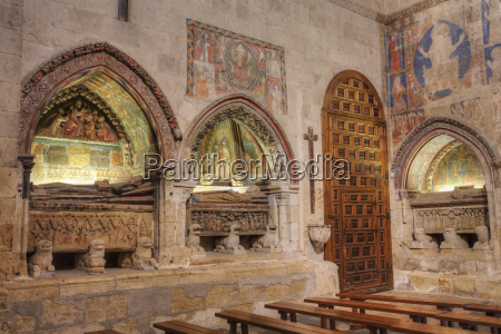 medieval tombs and wall murals old