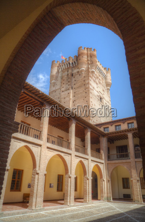 view from inner courtyard castle of