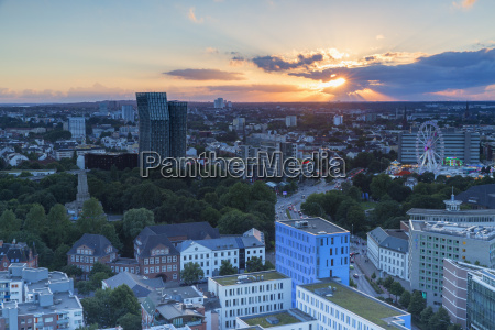 view of st pauli at sunset