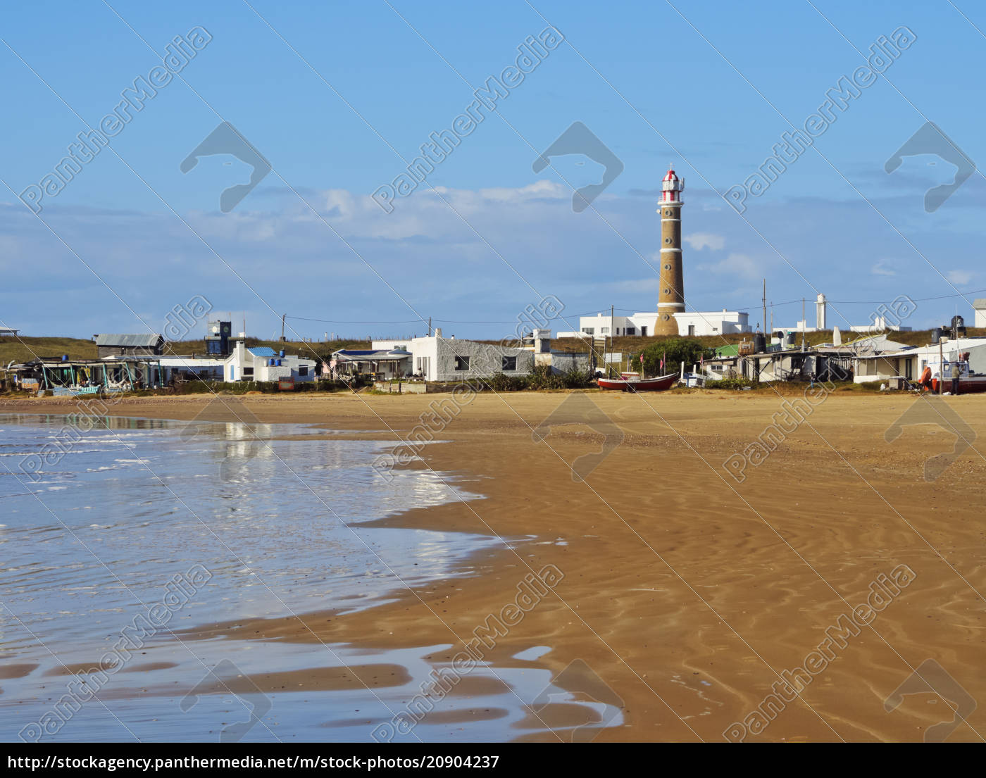 blick, über, den, strand, zum, leuchtturm, cabo - 20904237