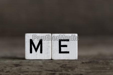 me written in cubes