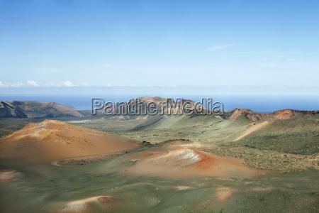 ruta de los volcanes montanas del