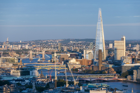 a view of london and the