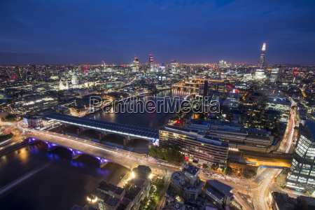 a night time view of london