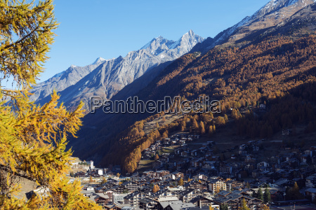 zermatt in autumn valais swiss alps