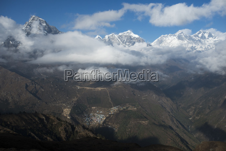a view from kongde looking down